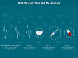 Diabetes Nutrition And Metabolism Ppt Powerpoint Presentation Summary Files