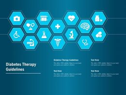 Diabetes Therapy Guidelines Ppt Powerpoint Presentation Styles Background Image