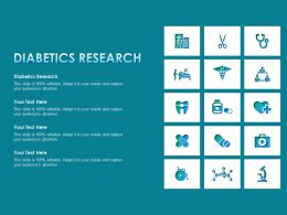 Diabetics Research Ppt Powerpoint Presentation Pictures Graphics Template