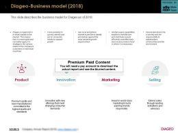 Diageo Business Model 2018
