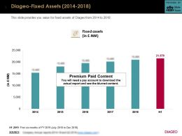 Diageo Fixed Assets 2014-2018