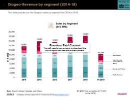 Diageo Revenue By Segment 2014-18