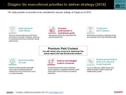 Diageo Six Executional Priorities To Deliver Strategy 2018