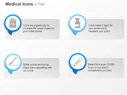 Diagnostic Pharmaceutical Drugs Scalpels Thermometer Ppt Icons Graphics