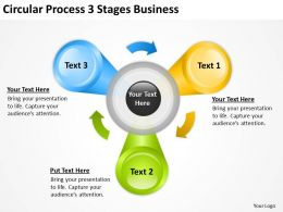 Diagram Business Process Circular 3 Stages Powerpoint Slides 0515