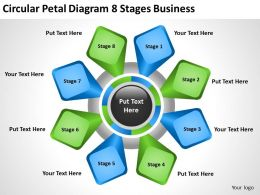Diagram Business Process Circular Petal 8 Stages Powerpoint Slides 0515