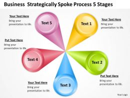 Diagram Business Process Strategical Spoke 5 Stages Powerpoint Slides