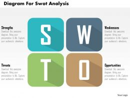 Diagram For Swot Analysis Flat Powerpoint Design