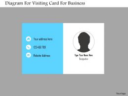 Diagram For Visiting Card For Business Flat Powerpoint Design