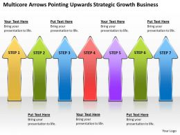 Diagram Of Business Cycle Arrows Pointing Upwards Strategic Growth Powerpoint Slides