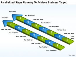 Diagram Of Business Cycle Parallelized Steps Planning To Achieve Target Powerpoint Slides