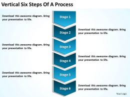 Diagram Of Business Cycle Vertical Six Steps Process Powerpoint Slides