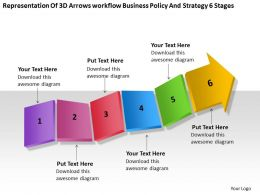 Diagram Of Business Cycle Workflow Policy And Strategy 6 Stages Powerpoint Templates