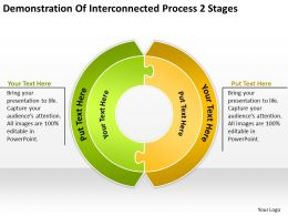 Diagram Of The Business Cycle Demonstration Interconnected Process 2 Stages Powerpoint Templates