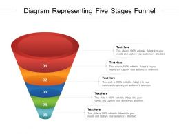 Diagram Representing Five Stages Funnel