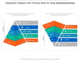 Diagram With Pyramid Style For Drop Shipping Business Infographic Template