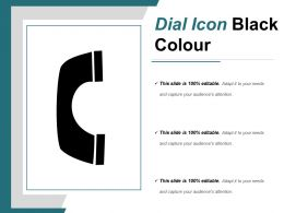 Dial Icon Black Colour