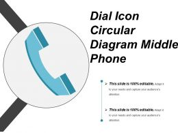 Dial Icon Circular Diagram Middle Phone