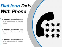 Dial Icon Dots With Phone