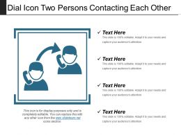 Dial Icon Two Persons Contacting Each Other