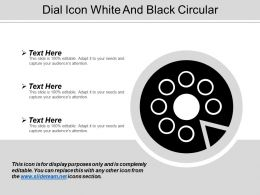 Dial Icon White And Black Circular