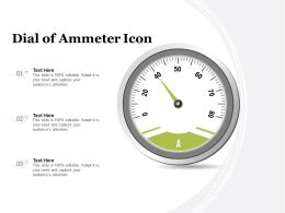 Dial Of Ammeter Icon