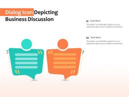 Dialog Icon Depicting Business Discussion