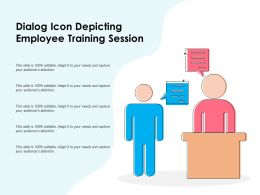 Dialog Icon Depicting Employee Training Session