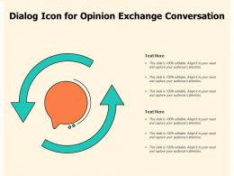 Dialog Icon For Opinion Exchange Conversation
