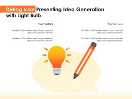 Dialog Icon Presenting Idea Generation With Light Bulb