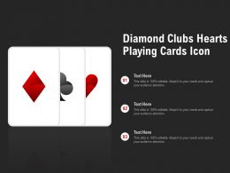 Diamond Clubs Hearts Playing Cards Icon
