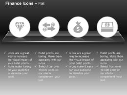 Diamond Money Exchange Asset Money Ppt Icons Graphics