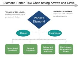 Diamond Porter Flow Chart Having Arrows And Circle