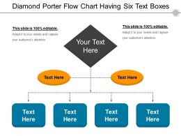 Diamond Porter Flow Chart Having Six Text Boxes