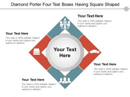 Diamond Porter Four Text Boxes Having Square Shaped
