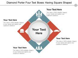 Diamond Porter Four Text Boxes Having Square Shaped