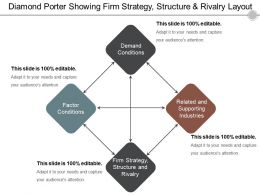 Diamond Porter Showing Firm Strategy Structure And Rivalry Layout