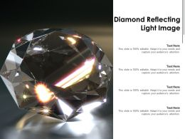 Diamond Reflecting Light Image