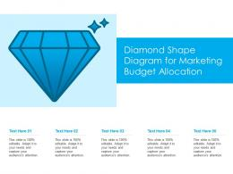 Diamond Shape Diagram For Marketing Budget Allocation Infographic Template