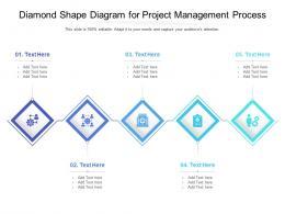 Diamond Shape Diagram For Project Management Process Infographic Template