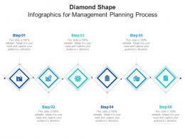 Diamond Shape For Management Planning Process Infographic Template