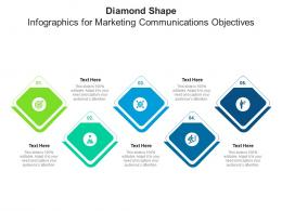 Diamond Shape For Marketing Communications Objectives Infographic Template