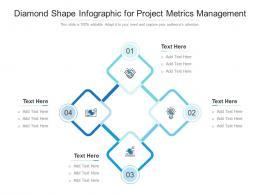 Diamond Shape For Project Metrics Management Infographic Template