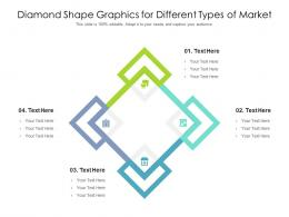 Diamond Shape Graphics For Different Types Of Market Infographic Template