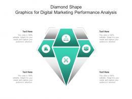 Diamond Shape Graphics For Digital Marketing Performance Analysis Infographic Template