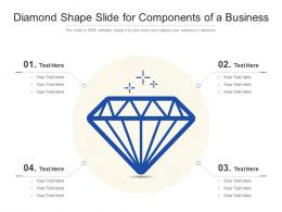Diamond Shape Slide For Components Of A Business Infographic Template