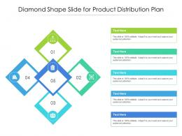 Diamond Shape Slide For Product Distribution Plan Infographic Template