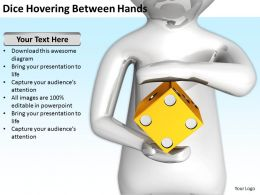 Dice Hovering Between Hands Ppt Graphics Icons PowerPoint