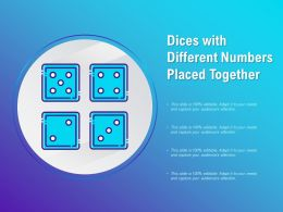 Dices With Different Numbers Placed Together