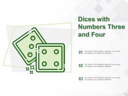 Dices With Numbers Three And Four